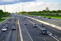 繁忙的高速公路 免版税库存图片