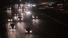 繁忙的洛杉矶高速公路 影视素材