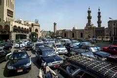 繁忙运输堵塞开罗街道 埃及 库存图片