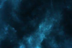 繁星之夜天空星云 免版税库存图片