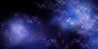 繁星之夜天空深刻的外层空间 免版税库存照片