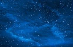 繁星之夜天空间隔背景 免版税库存照片