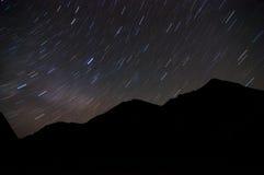 繁星之夜天空 免版税库存照片
