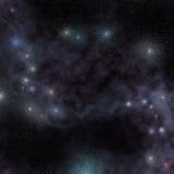繁星之夜宇宙视图,在外层空间的发光的星云 库存图片