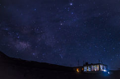 繁星之夜(喜马偕尔邦) 图库摄影