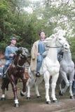 红军干部骑乘马的雕象在红军Parkï ¼ Œshenzhen,瓷的 库存照片