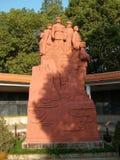 红军战士的小组雕塑 免版税库存照片