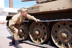 红军的战士以二战的形式时期的在的 免版税库存图片
