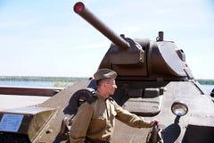 红军的战士以二战的形式时期的在的 库存图片
