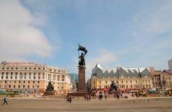 红军纪念碑 免版税库存图片