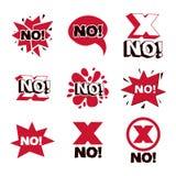 红十字错误标志 传染媒介拒绝标志,不许可的iso 库存例证