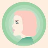 红发女孩外形 免版税库存照片