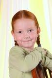 红发女孩的纵向 免版税库存照片