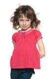 红发女孩的画象 免版税库存照片