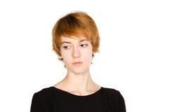 红发女孩画象  库存图片