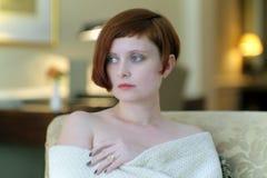 红发女孩 免版税库存照片