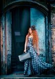 红发妇女 免版税库存图片