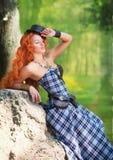 红发妇女 图库摄影