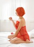 红发妇女 库存图片
