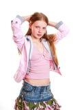 红发少年女孩   库存图片
