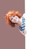 红发的女孩 库存照片