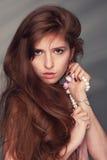 红发美丽的女孩 库存照片