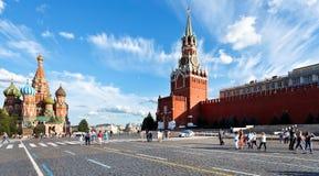 红场全景在莫斯科 免版税库存图片