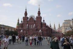 红场和国家博物馆在莫斯科俄罗斯 库存照片