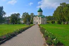 红场在Pereslavl-Zalessky,俄罗斯的中心 库存图片