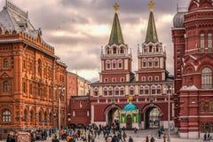 红场的博物馆在莫斯科 免版税库存照片