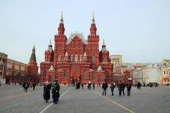 红场的历史博物馆在莫斯科 库存图片