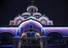 红场的喀山大教堂 库存照片