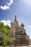 红场的多数著名俄国大教堂 免版税库存照片