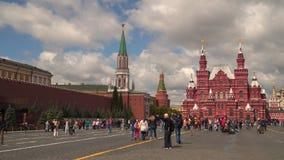 红场的游人在莫斯科 股票视频