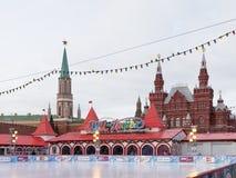 红场的溜冰场 库存图片