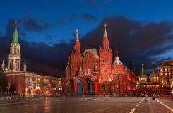 红场的状态历史博物馆在莫斯科 俄国 免版税图库摄影