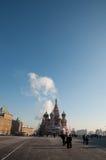 红场的,莫斯科蓬蒿大教堂 免版税库存照片