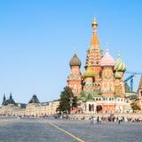 红场的Pokrovsky大教堂在莫斯科 库存照片