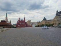 红场,历史博物馆和总署商店在莫斯科 库存照片