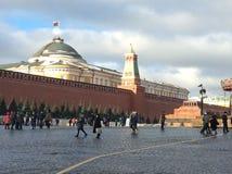 红场,莫斯科在冬天 俄国 库存图片