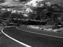 红外沙漠风景 免版税库存图片