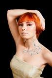 红头发人假钻石 库存照片