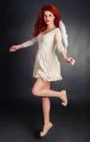 红头发人天使 库存图片