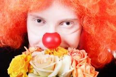 红头发人小丑 图库摄影