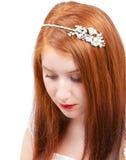 红头发人新娘 免版税库存图片