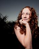红头发人青少年的年轻人 免版税库存图片