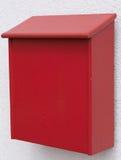 红字箱子由木头制成 免版税库存照片
