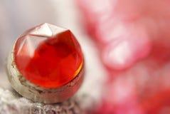 红宝石圆环 库存图片