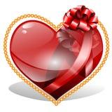 红宝石心脏 免版税库存照片