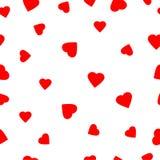 红心形状样式 免版税库存照片